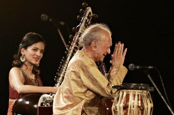 Ravi Shankar et sa fille Anoushka - crédit photo AFP