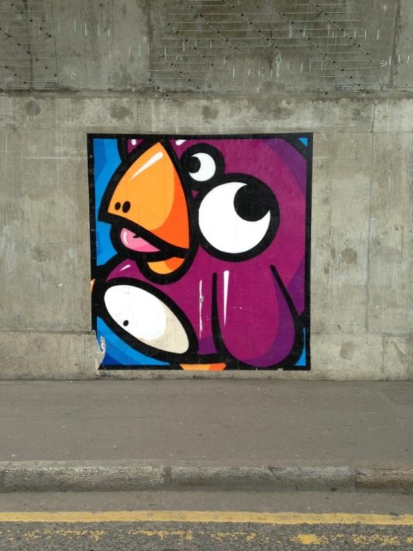 Street art Londres - 21 - Birdy Kids, par Knar, Union Street
