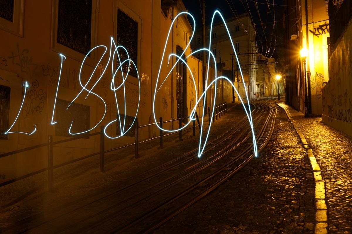 Light Painting Lisbonne