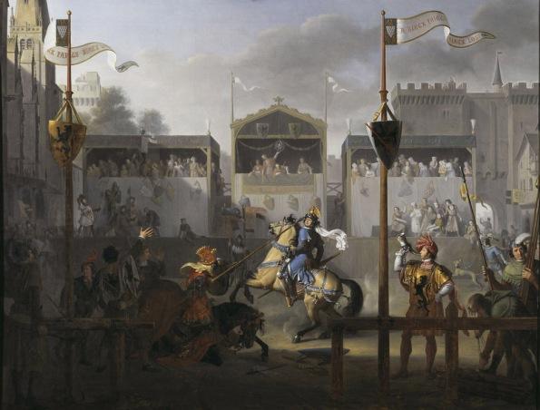 Revoil Un Tournoi au XIVe siecle-1000