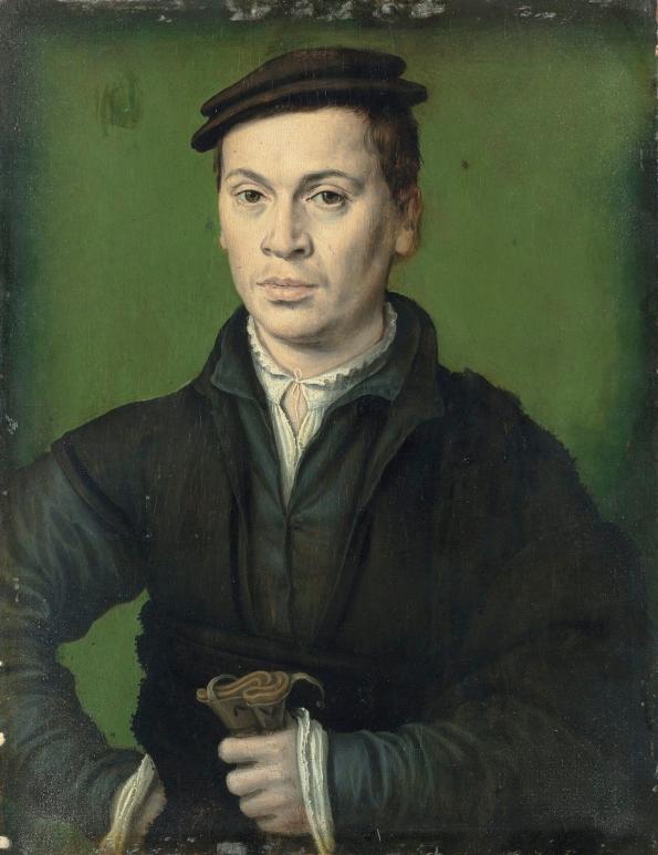 Corneille de Lyon - Homme au béret noir tenant une paire de gants